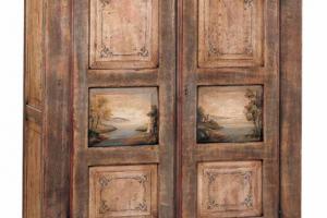 Art. 30PA169 Armadietto 2 Ante Finitura Antiquariato Decorato
